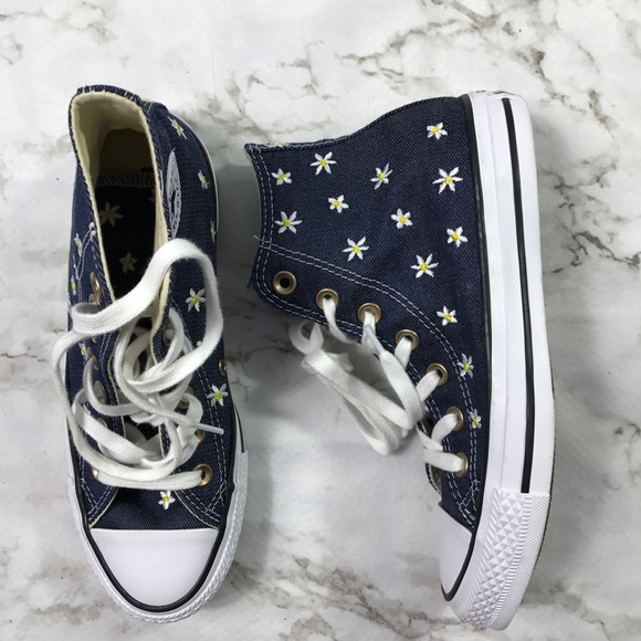 14d5692c32c6 Daisy and Denim Print High Top Converse